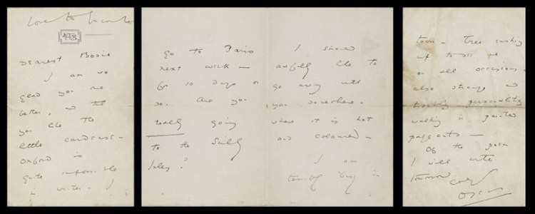 oscar wilde professes love despite the distance separating him from lord alfred douglas