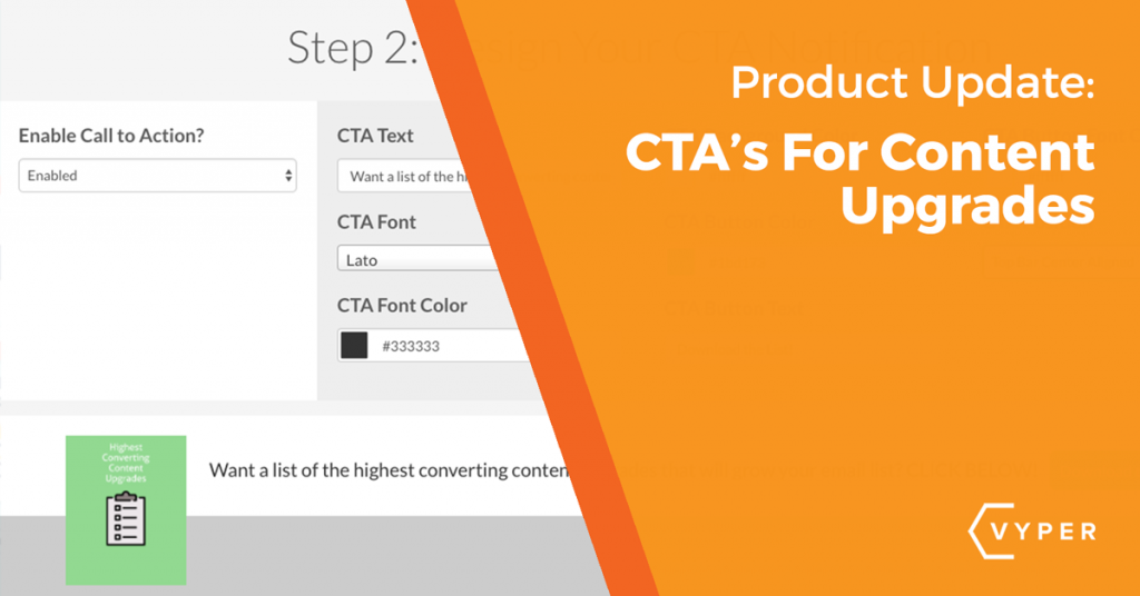 Content Upgrade CTA Banner