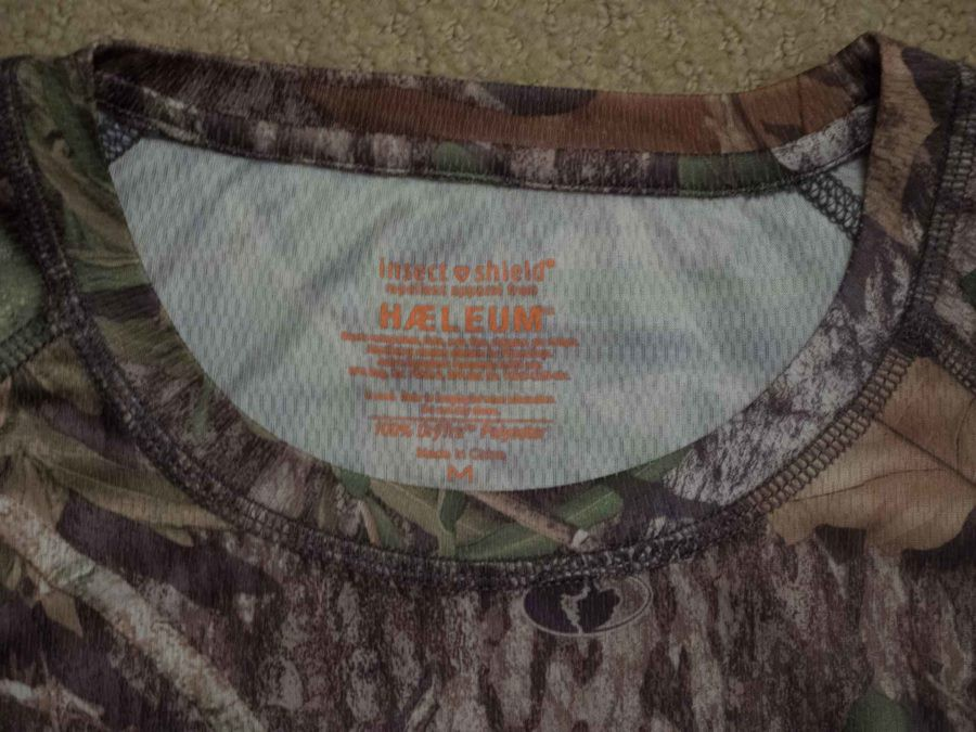 Mossy Oak long sleeve tee has built-in insect repellant properties