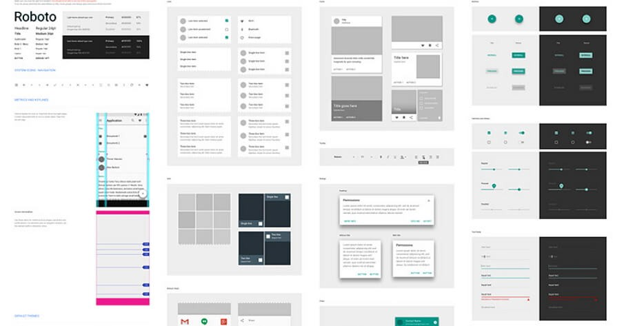 Android Mobile App Design Components Download Sketch