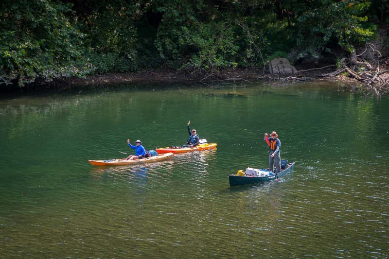 Boaters along the Potomac River