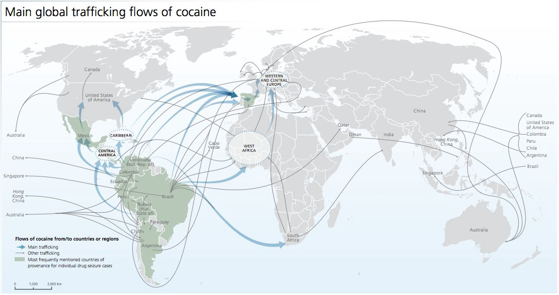 UNODC, responses to annual report questionnaire and individual drug seizure database