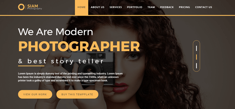 siam photography is a full screen photography website template the template is based on html5 css and bootstrap this portfolio photography template is a