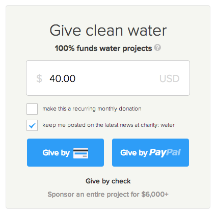 15 tips for smarter nonprofit donation forms charity apps medium image credit charity water altavistaventures Image collections