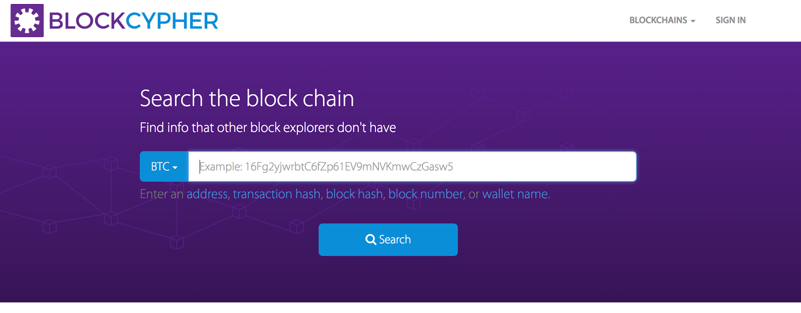 How to get your transaction id eth btc tenx medium choose btc in the blue dropdown menu paste your address you send from and click search ccuart Gallery