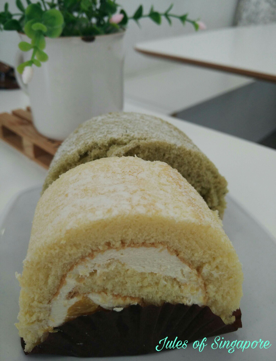 Naomi Kitchen café near Serangoon NEX Mall swiss roll