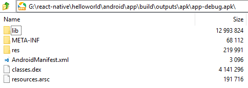 whats inside an apk file