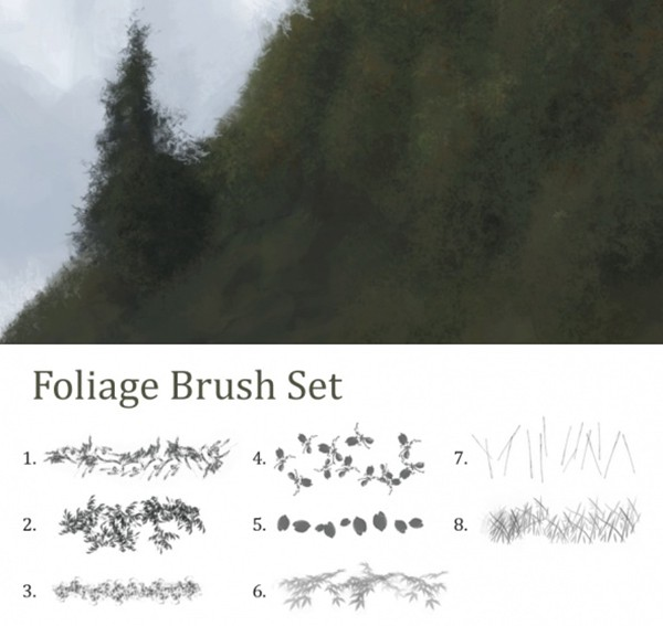 foliage_free_Photoshop_brushes