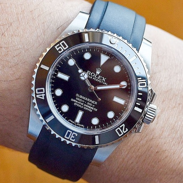 Rolex Submariner No-Date on Everest strap