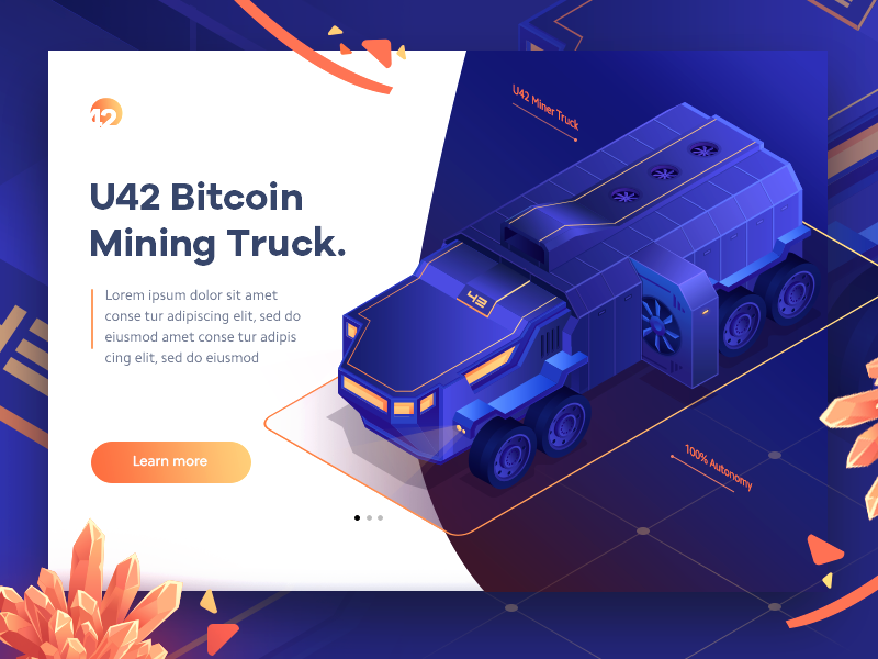 Bitcoin Mining Truck illustration by Walid Beno