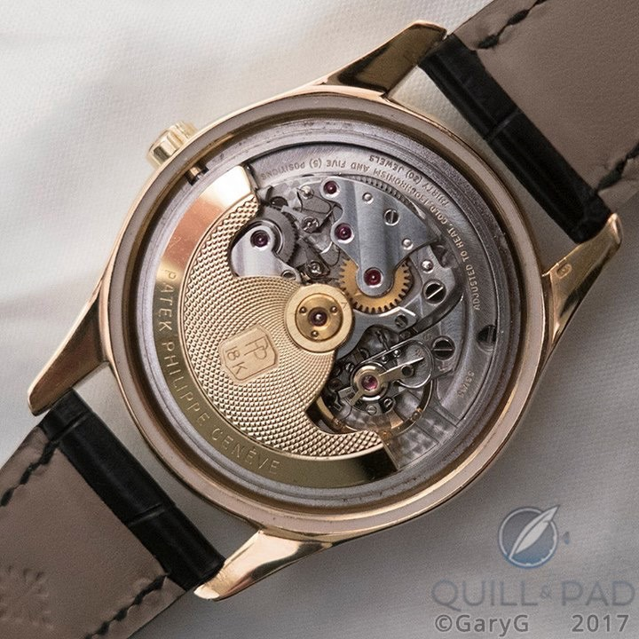 Hidden beauty: Caliber 12-600 AT with the solid case back of Patek Philippe Reference 2526 removed