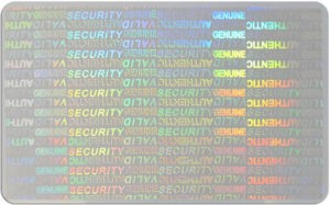 Holographic ID Card Example