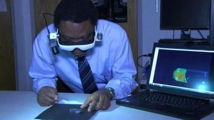 The invented goggles made by Achilefu can help surgeons see cancerous cells during surgery.