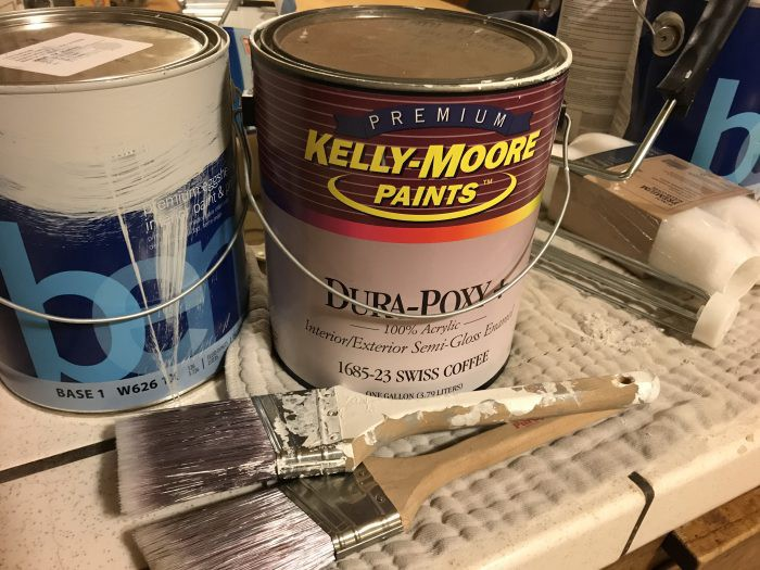 paint cans and sundries