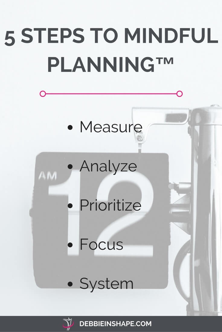 Discover how you can use the 5 Steps To Mindful Planning™ to stop sucking at time management.