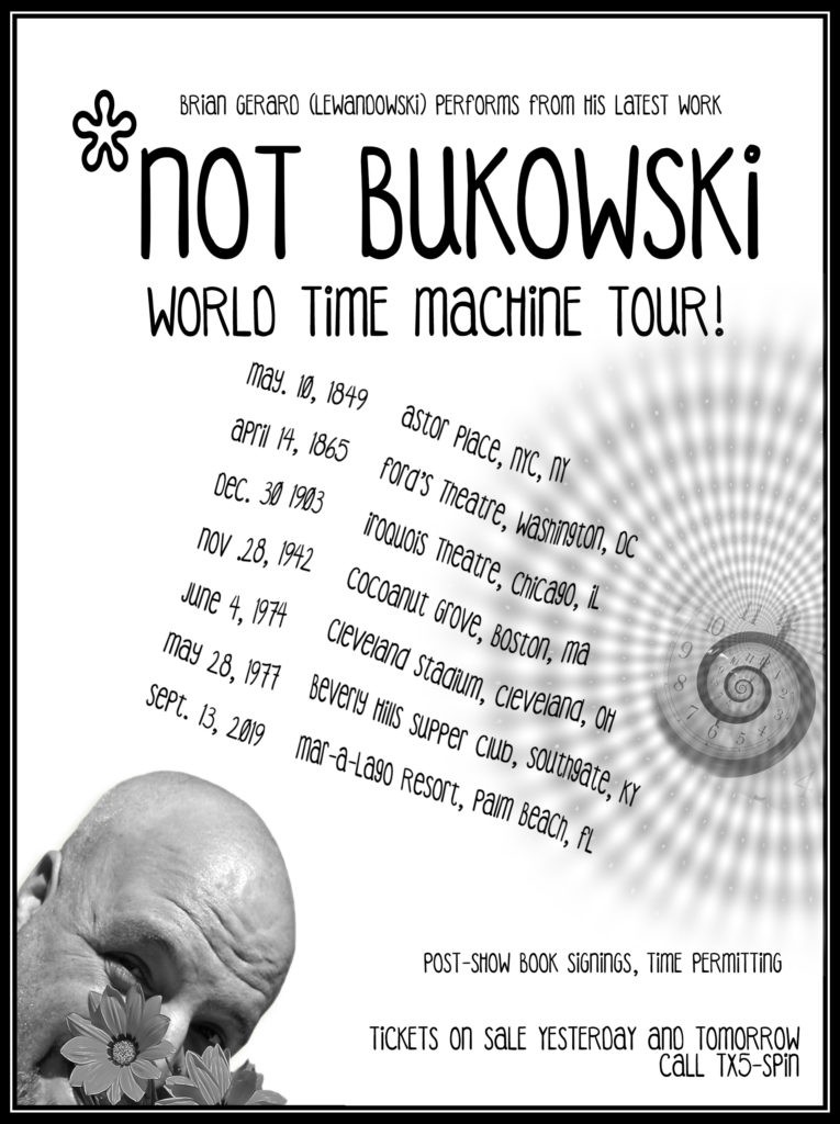 Not Bukowski World Time Machine Tour