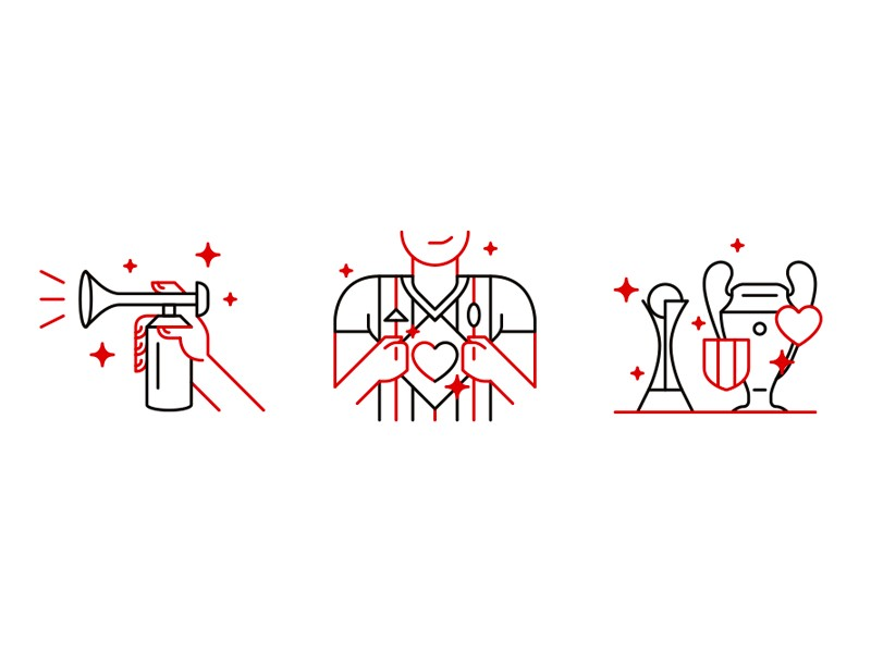 AC Milan Website icons by Davide Mazzuchin
