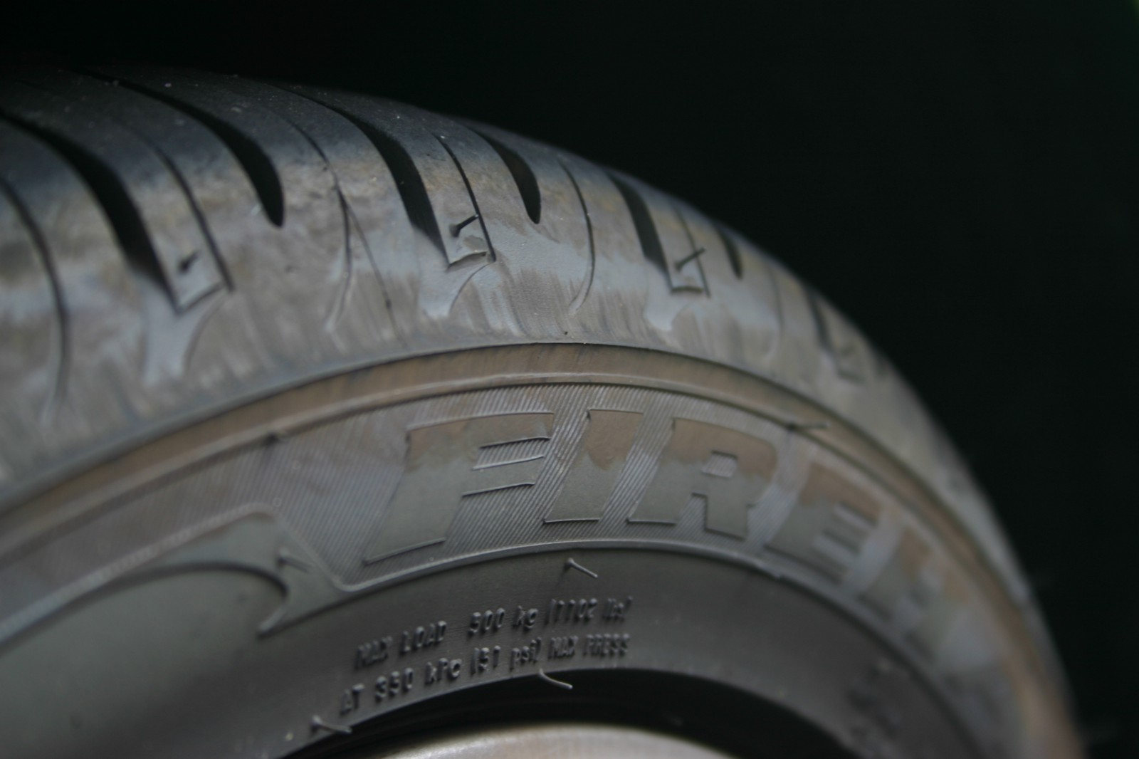 Passenger car tires are made with natural rubber that is vulcanized.
