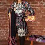 Khaadi embroidered cambric fall collection fashion 2