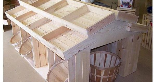 Wood Crates Amp Bins For Farmer S Market And Vegetable