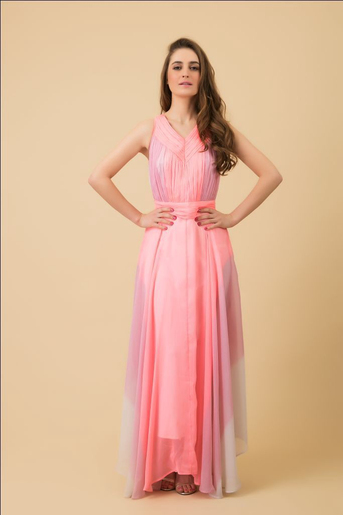 Ombre Pink Maxi dress Rs 3250