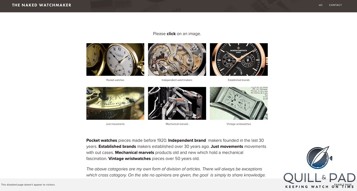 The Naked Watchmaker: Pocket watches (site under construction)