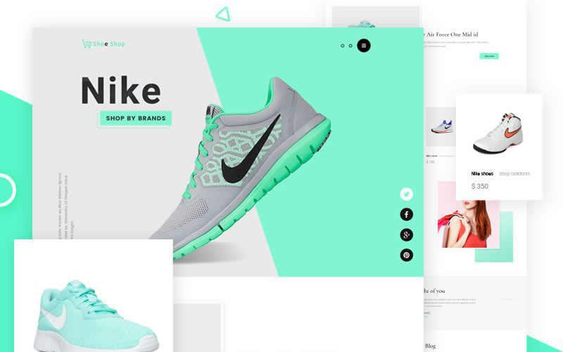 Sneakers Free Ecommerce Website Template