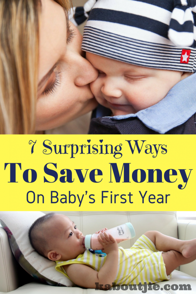 Surprising ways to save money on baby's first year pin