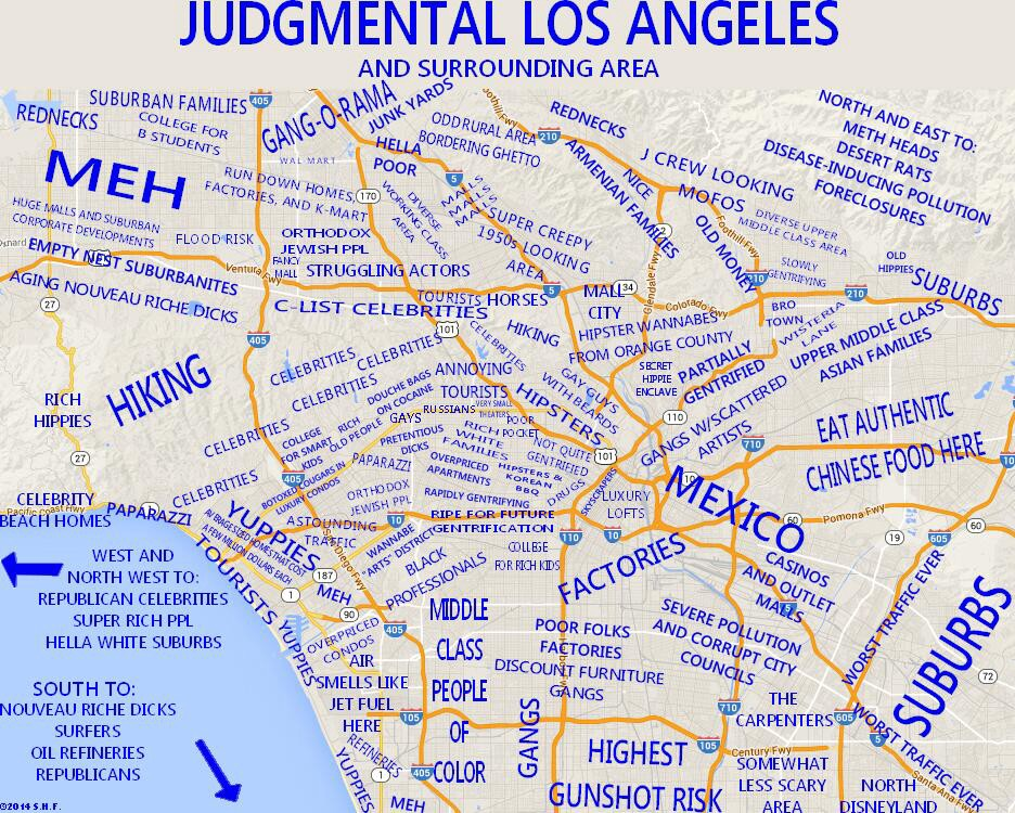 San Francisco To Los Angeles Map.10 Unusual Maps Of Los Angeles The Bold Italic San Francisco
