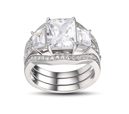 Luxury-Emerald-Cut-White-Sapphire-925-Sterling-Silver-Womens-Engagement-Ring-500318