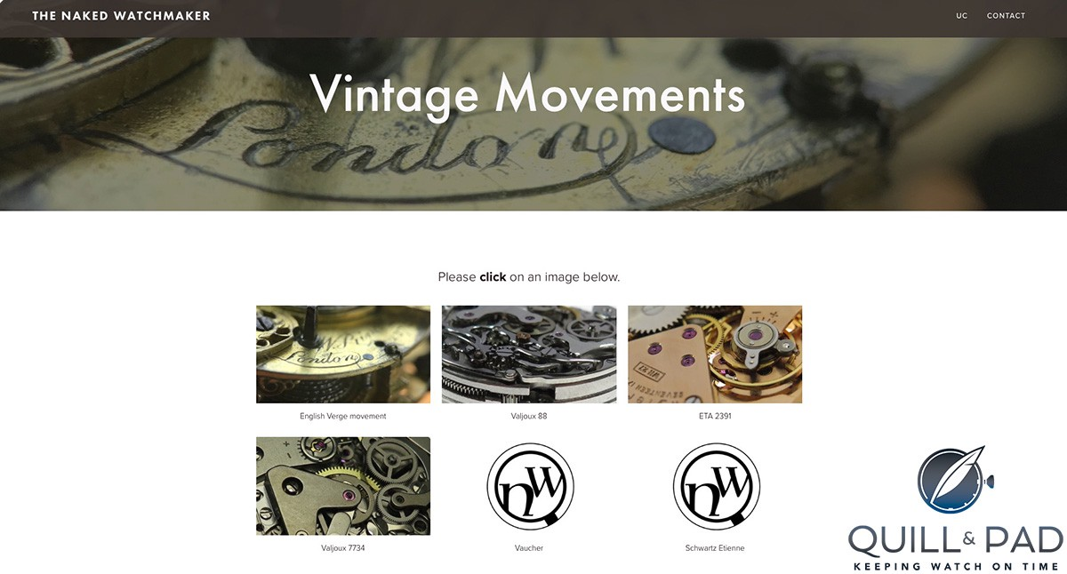 The Naked Watchmaker: Vintage movements (site under construction)