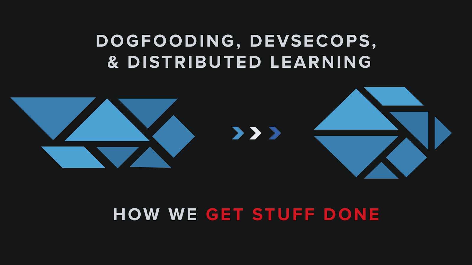Dogfooding, DevSecOps, and Distributed Learning—How We Get Stuff Done