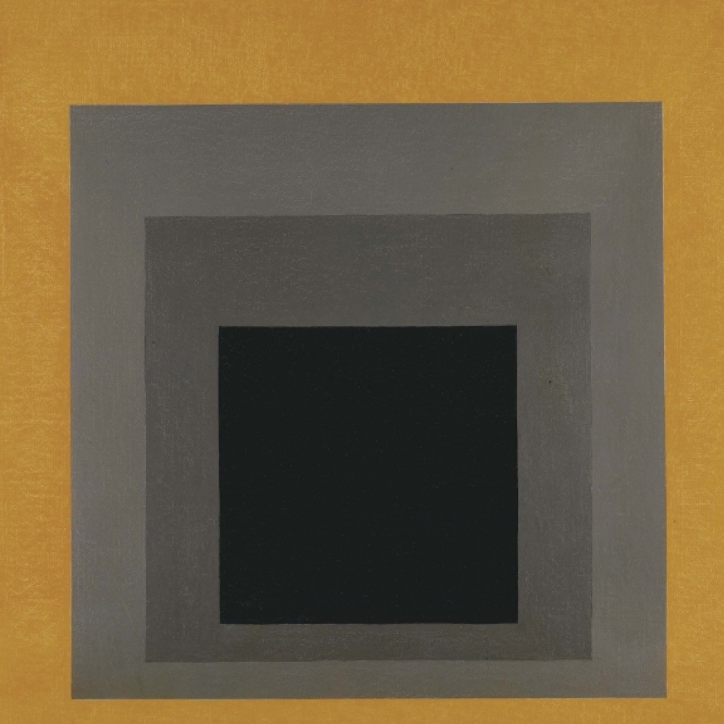Study for Homage to the Square: Grisaille & Gold, 1961