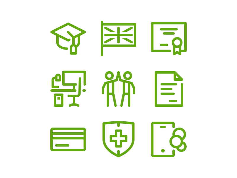 Simple icon collection by Denis Shumaylov