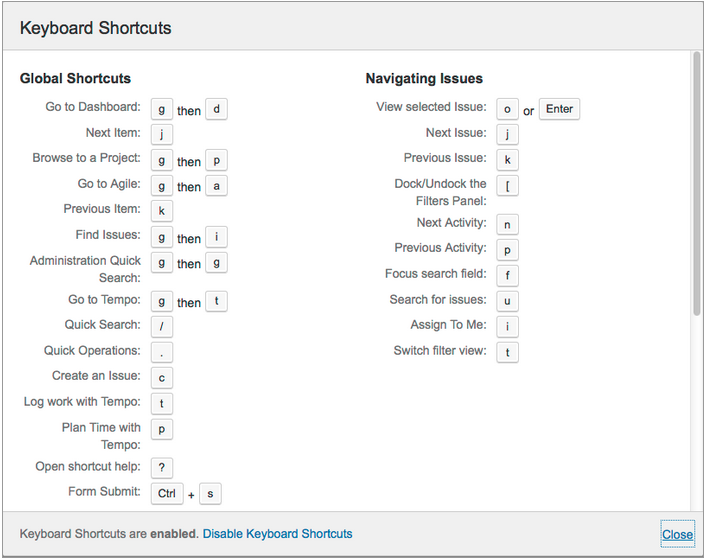 j k or how to choose keyboard shortcuts for web applications