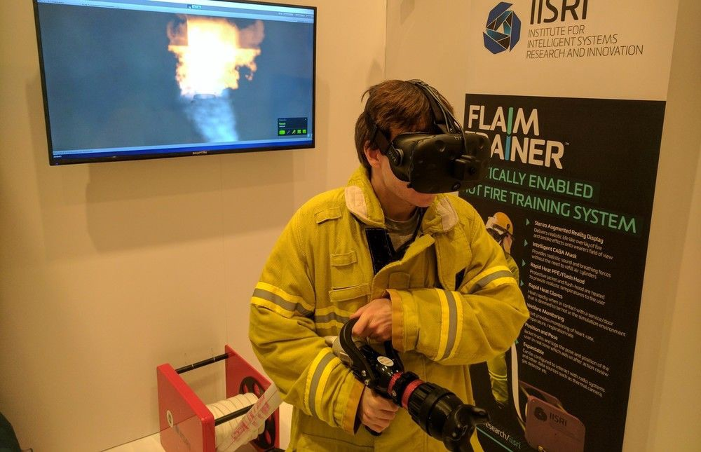 'Flaim Trainer' Uses Vive's Tracker For A Realistic Firefighting Experience  #vr