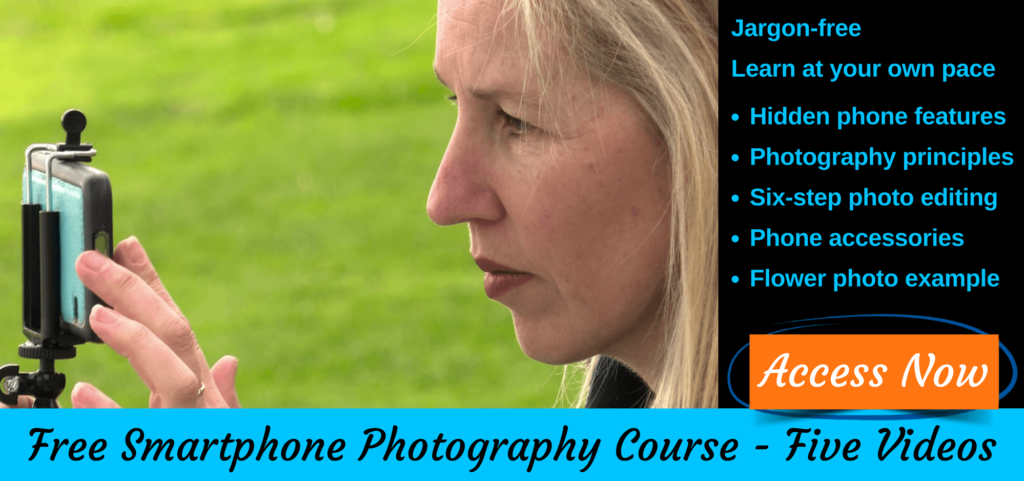 Free video course iPhone photographer and Android smartphone photography course