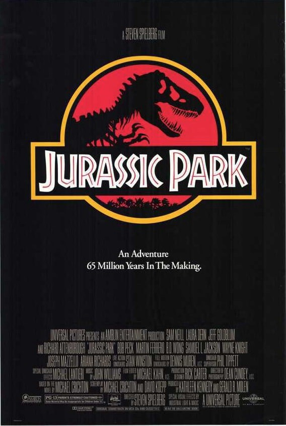 The Official Jurassic Park Movie Poster
