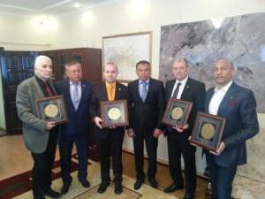 ECTT delegation receives Turkestan symbol-Hogea Ahmed Yassaui