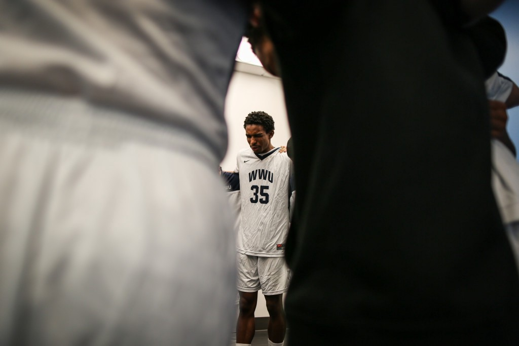 With exactly 35 minutes remaining before the start of a game against rival team, Central Washington University, the WWU locker room goes silent. Just as he does before each game, Jeff leads his team in a prayer.