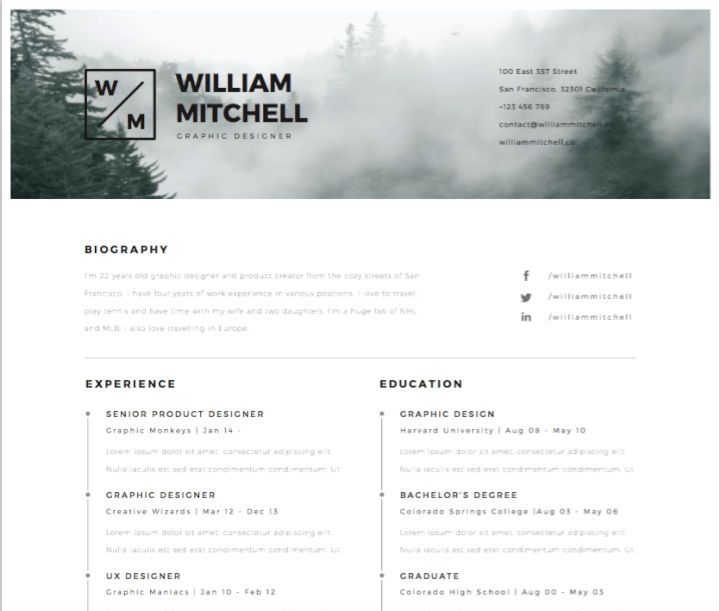 This Illustrator Resume Template Is Ideal For Those Who Prefer Clean Lines And Minimalistic Design