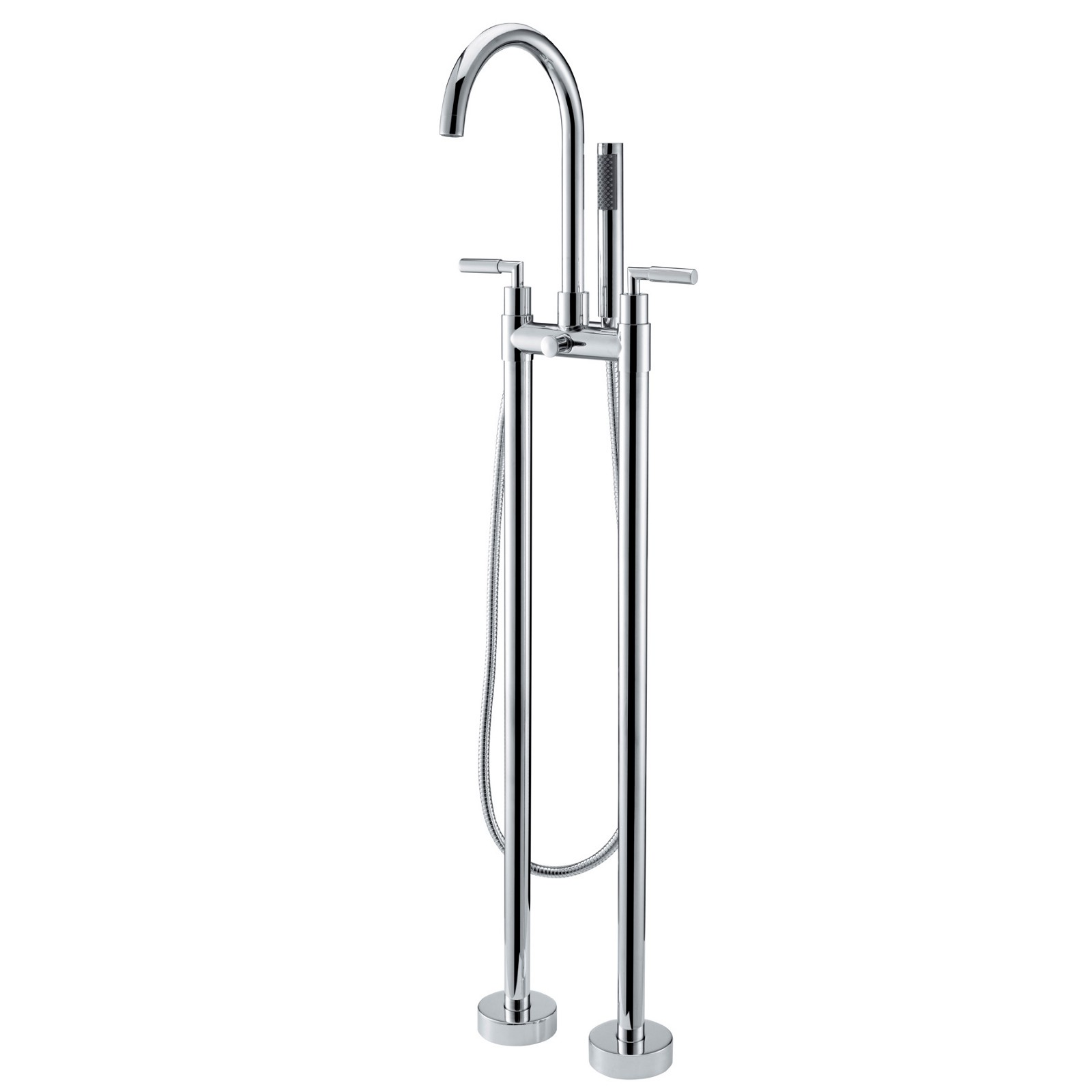Best Stev Floor Mounted Clawfoot Tub Filler Faucet For Freestanding Tubs