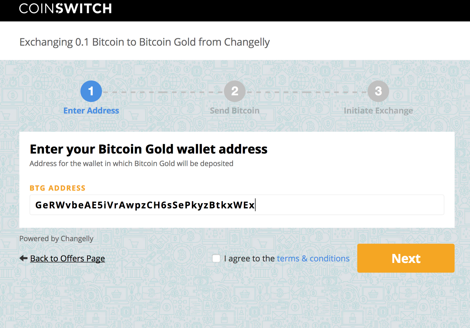 How to buy bitcoin gold btg from coinswitch coinswitch provide your bitcoin gold btg wallet address you will receive your bitcoin gold in that wallet after the order completes please double check the address ccuart Choice Image