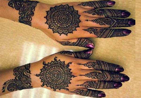 Traditional Circle Mehndi Designs : Traditional indian mehndi designs for your wedding day