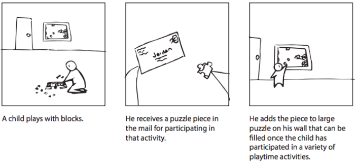 Storyboard Version A Child Playing With Puzzle