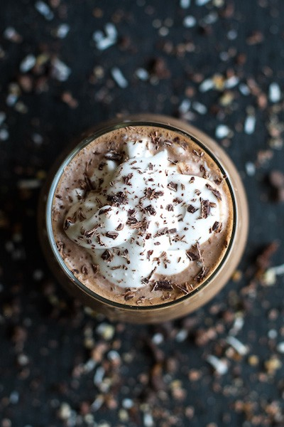 Frozen Hot Chocolate Breakfast Smoothie