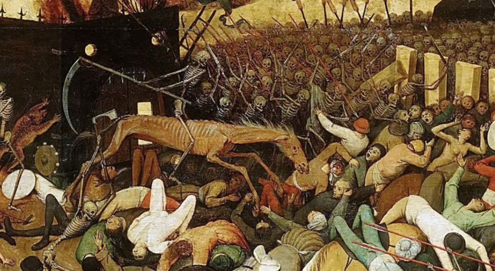 Covid-19 in The Age of Technology and The Homo Deus - Bruegel's The Triumph of Death depicting the havoc brought by the 14th-century pandemic