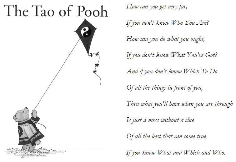 tao of pooh thoughts