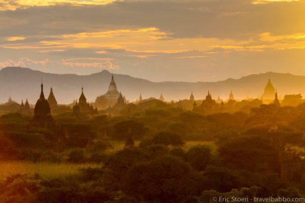 Bagan Sunset Photo by Eric Stoen from Travel Babbo
