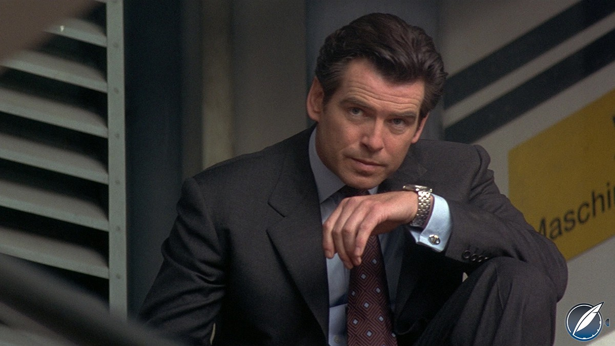 Pierce Brosnan as James Bond in 'Tomorrow Never Dies' wearing an Omega Seamaster Professional